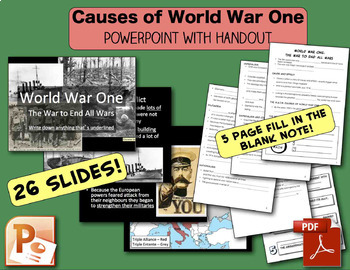 World War One: Simulation, Causes, Trench Warfare - CHC2P/D