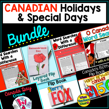 Canadian Holidays and Special Days BUNDLE