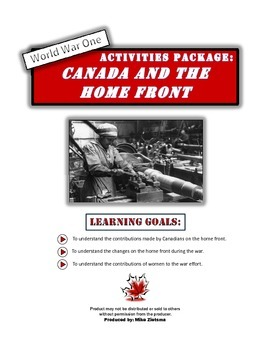 Canadian Home Front and World War One