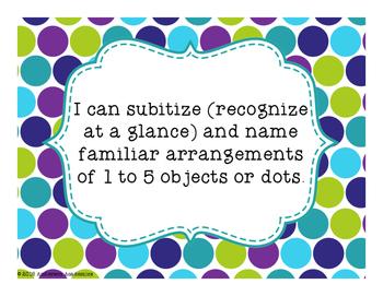"Canadian ""I Can"" Statements - Kindergarten Math"