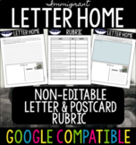 Canadian Immigrant Letter Home NON-EDITABLE