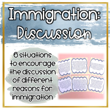 Canadian Immigration Discussion Cards