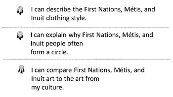 """Canadian Indigenous """"I Can Statements"""" - Grade 2"""