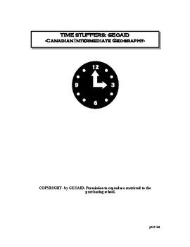 Canadian Intermediate Geography: Time Stuffers
