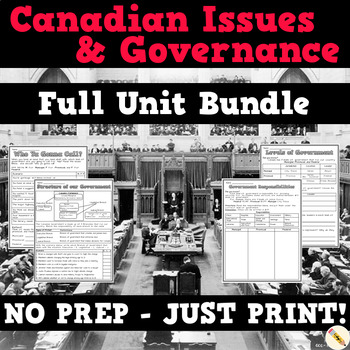 Canadian Issues and Governance: BC Grade 5 Full Unit!