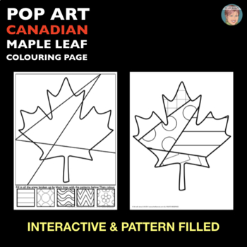 Canadian Maple Leaf Interactive Coloring Sheet FREEBIE!
