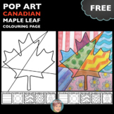 FREE Canadian Maple Leaf Interactive Coloring Sheet