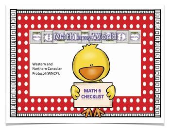 Canadian Math 6 Curriculum Checklist (WNCP)