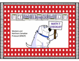 Canadian Math 7 Curriculum Checklist (WNCP)