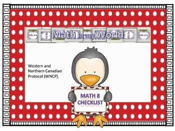 Canadian Math 8 Curriculum Checklist (WNCP)