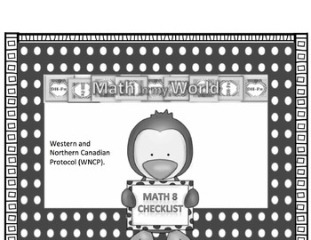 Canadian Math 8 Curriculum Checklist (WNCP)