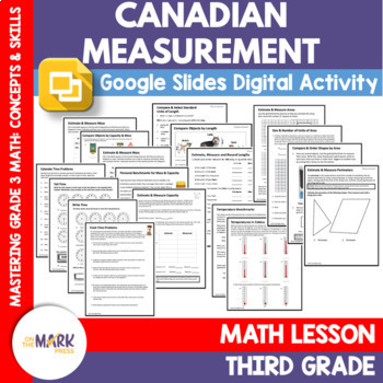 Canadian Measurement Lesson Plans
