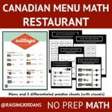 Canadian Menu Math: The Village
