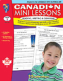 Canadian Mini Lessons: Reading, Writing & Grammar Grade 2