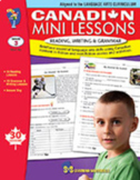 Canadian Mini Lessons: Reading, Writing & Grammar Grade 3