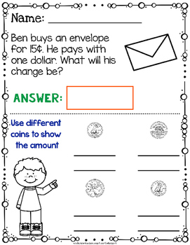 Canadian Money Word Problems