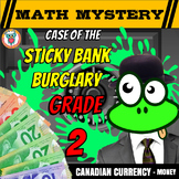 Canadian Money Math Mystery - Grade 2