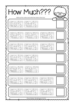 Canadian Money Worksheets / Printables / Kindergarten / Grade One / Grade Two