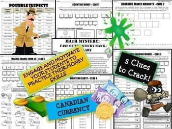 Canadian Money Math Mystery - Grade 3