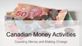 Canadian Money Activities for the Junior Grades