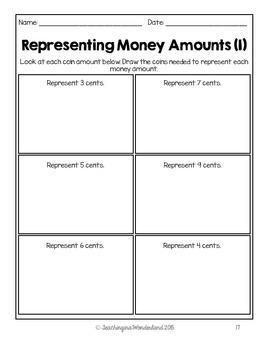 {Grade 1} Canadian Money Activity Packet