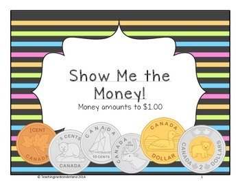 {Grade 2} Canadian Money Activities