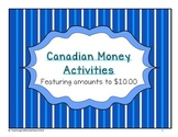 {Grade 3} Canadian Money Activities
