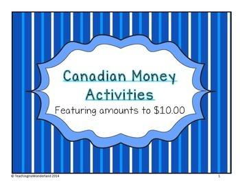 {Grade 3} Canadian Money Activities