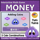 Canadian Money ~ Adding 3 Coin Combinations Interactive Math Game {Yum Yums}
