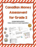 Canadian Money Assessment for Grade 2 {Ontario Curriculum}