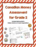 Canadian Money Assessment for Grade 2 {Ontario Curriculum}