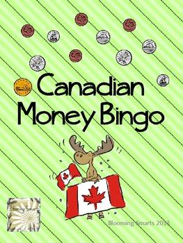 Canadian Money Bingo Game