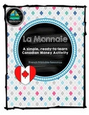 La Monnaie Canadienne (Canadian Money) - French Immersion Printable