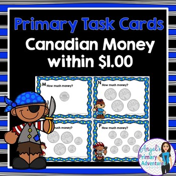 Canadian Money:  Canadian Coins Task Cards