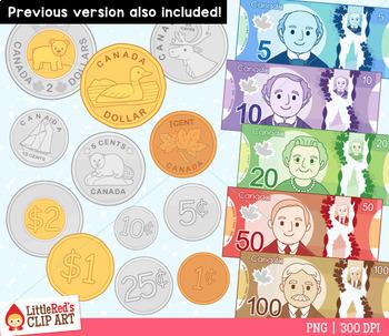 Canadian Money Clip Art
