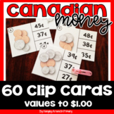Canadian Money Clip Cards Math Center