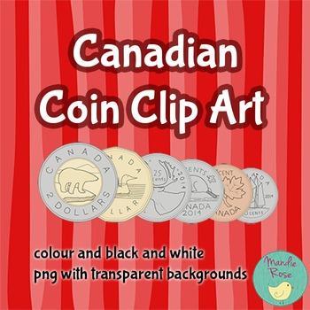 Canadian Money Coin Clip Art