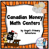 Canadian Money:  Canadian Coins Math Centers