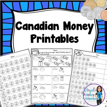 Canadian Money (Coins)  Math Printables Pack