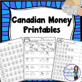 Canadian Money:  Canadian Coins Printables