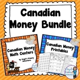 Canadian Money:  Canadian Coins Math Bundle