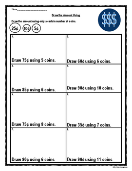 Counting canadian bills and coins worksheets