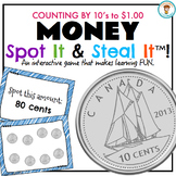 Canadian Money - Counting by 10's Spot It & Steal It game