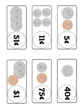 Canadian Money Dominoes