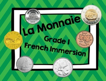 Canadian Money- French Immersion Word Wall