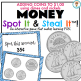 Canadian Money Game - adding to 100¢ using dimes + nickels