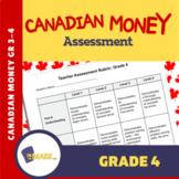 Canadian Money Grade 4 Assessment