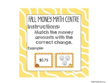 Counting Canadian Money {Math Centre for Fall: October, November}