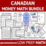 Canadian Money Math Bundle: Worksheets, Games, Centers, & Teaching Materials