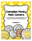 Canadian Money Math Centers K-1